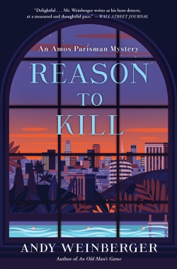 Cover of Reason to Kill with a rounded window looking out on a sunset lit cityscape